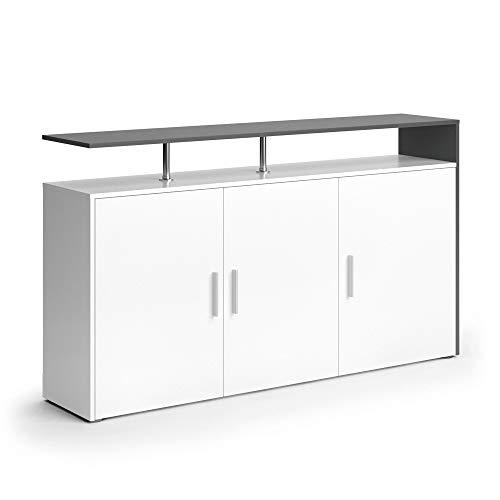 Vicco Sideboard Amato Kommode Schrank Weiß Anrichte Fernsehschrank TV (Weiß Anthrazit)